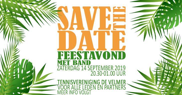 Save the date Feestavond 14 september 2019
